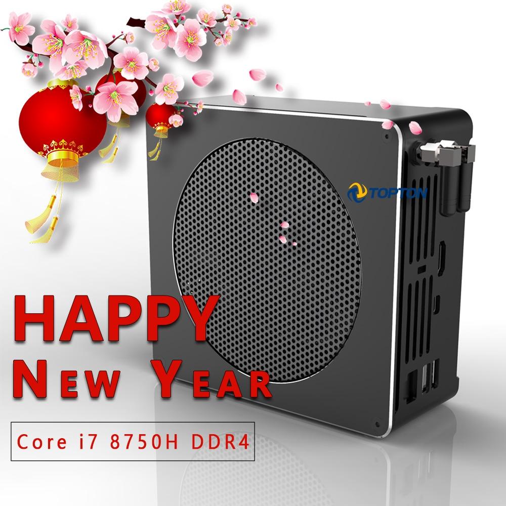 11.11New Mini PC Intel Core i9 9880H 8 cœurs 16 fils ordinateur de bureau de jeu 2 * DDR4 2 * M.2 NVMe Win10 Pro 4K HTPC HDMI Mini DP