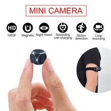 Md21 mini câmera hd 1080p micro cam digital corpo magnético detecção de movimento snapshot loop gravação filmadora interior