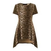 Celmia Vintage Tunic Top Women Peplum Shirts Summer Short Sleeve Sexy Leopard Print Fashion Blouse Casual Plus Size Blusas Femme
