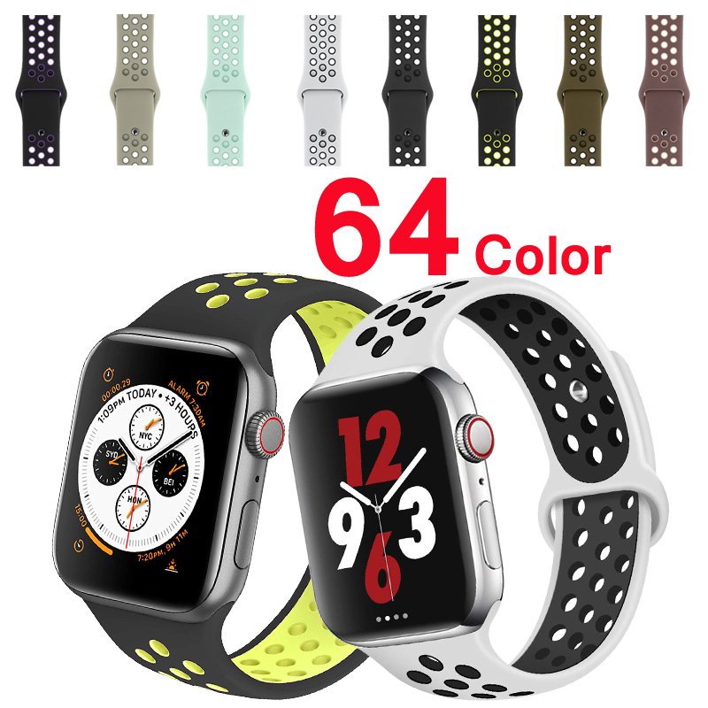 Sport Strap For Apple Watch Band 42mm/38mm Apple Watch 4 3 2 Band Iwatch Band 44mm/40mm Bracelet Belt Watch Accessories