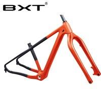 New Carbon fat snow frame fork 26er Ultralight T800 carbon Fiber max 4.8res beach snow bike frameset carbon fat bike frame