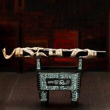 Jinhao Double Dragon/Snake Vintage Luxe Vulpen/Pen Houder Full Metal Carving Embossing Zware Gift Pen Collectie