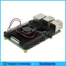 Raspberry Pi 4 Modell B Embedded Rüstung Aluminium Legierung Kühlkörper mit 5V Lüfter für Raspberry Pi 4 Modell B Computer Nur