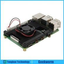Raspberry Pi 4 Modello B Incorporato Armatura In Lega di Alluminio del Dissipatore di Calore con 5V Ventola di Raffreddamento per Raspberry Pi 4 Modello B Del Computer Solo