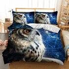 3d OWL Bedding Set a...