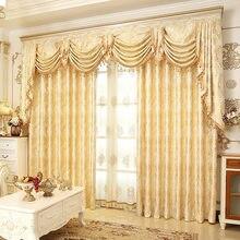 Cortinas de valância para sala de jantar, cortinas de luxo para sala de estar, quarto, acabamento de personalização