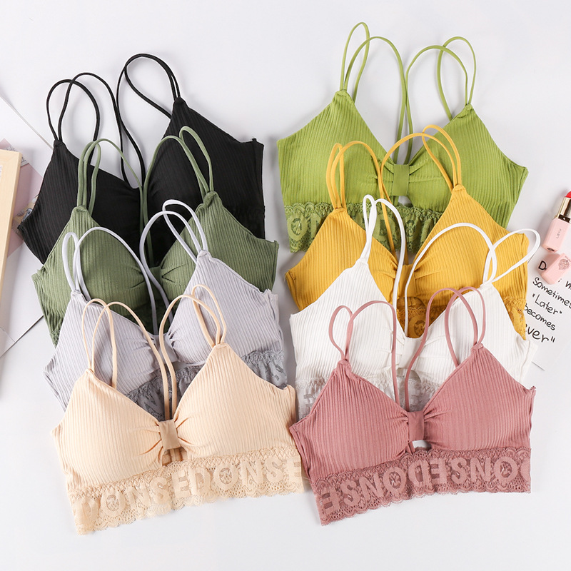 Sexy Bra Lace Cotton Women Tops Push Up Bras Breathable Top Lingerie Women Yoga Bra Fitness Tank Tops Padded Seamless Crop Bras