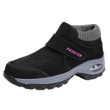 Cashmere warm cotton shoes for middle-aged and elderly women walking shoes women walking shoes shake shoes middle aged and elderly people with cotton cotton diabetes shoes foot swelling variable foot care shoes bunion gout shoes