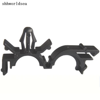 Shhworldsea 500pcs Free Shipping Nylon Black Routing Clips For Wire Loom Inside Diameter 11.2mm For GM 8911473
