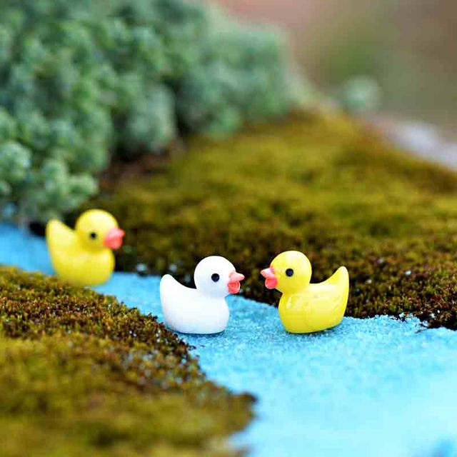 50 Pcs Mini Cute Ducks Miniatura Dollhouse Garden Home Bonsai Decoration Mini Toy Miniature Pvc Craft Ornaments Micro Decor DIY 6