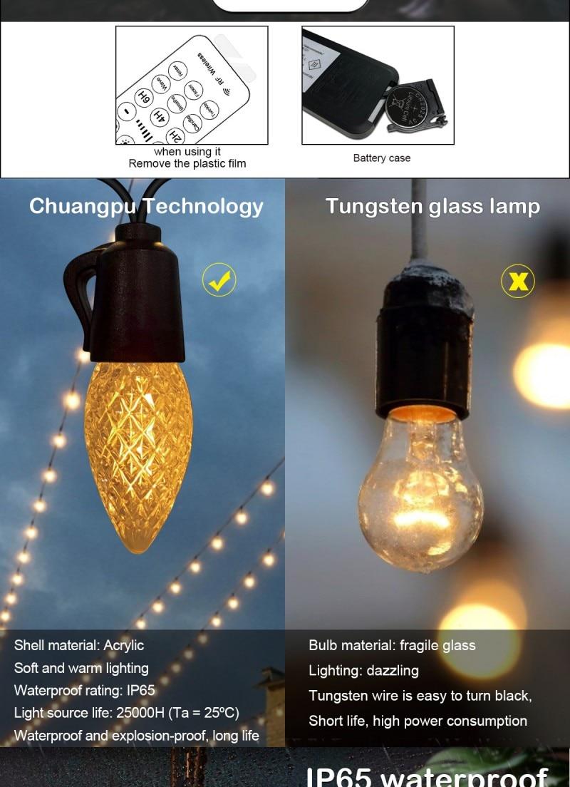 lâmpadas led lâmpada do feriado à prova