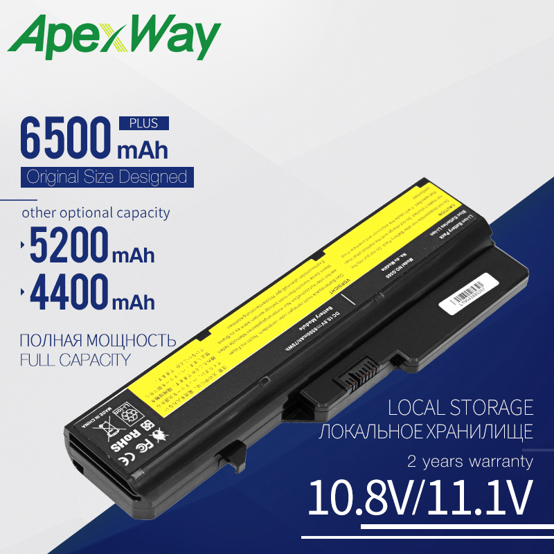 Laptop Battery For Lenovo IdeaPad G460 G560 V360 V370 V470 Z460 Z465 Z560 Z565 L09C6Y02  L09M6Y02 L09S6Y02  L10C6Y02 57Y6454