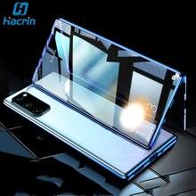 Funda para Samsung Galaxy S20 S 20 Ultra funda de lujo de Metal cristal templado magnético para Samasung S20 + S20 Plus funda
