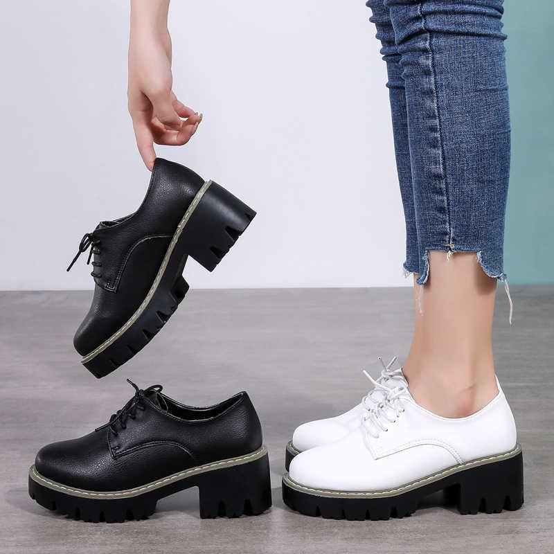 Plardin Neue Freizeit Echtem Leder Nähen Skate Schuhe Flache Frauen Schuhe Ballett Spitze Up Knappe Sneaker Frauen Wohnungen Casual Schuhe