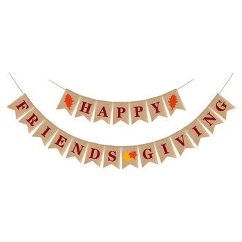 1 zestaw dziękczynienia przyjaciele banery święto dziękczynienia transparent dekoracyjny dekoracyjny banery dla aktywności tanie i dobre opinie CN (pochodzenie)