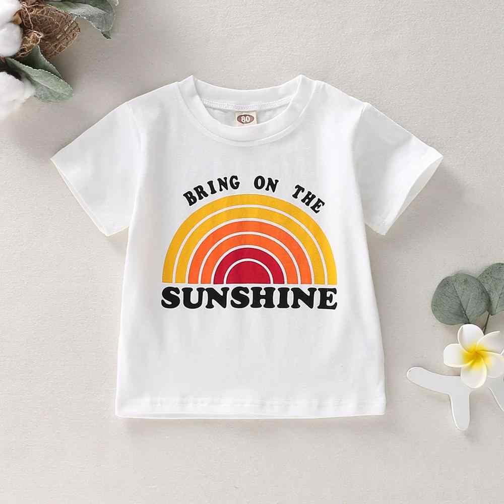 ボーイズtシャツ半袖夏の服の子供のtシャツトップ文字の印刷サンシャイン服