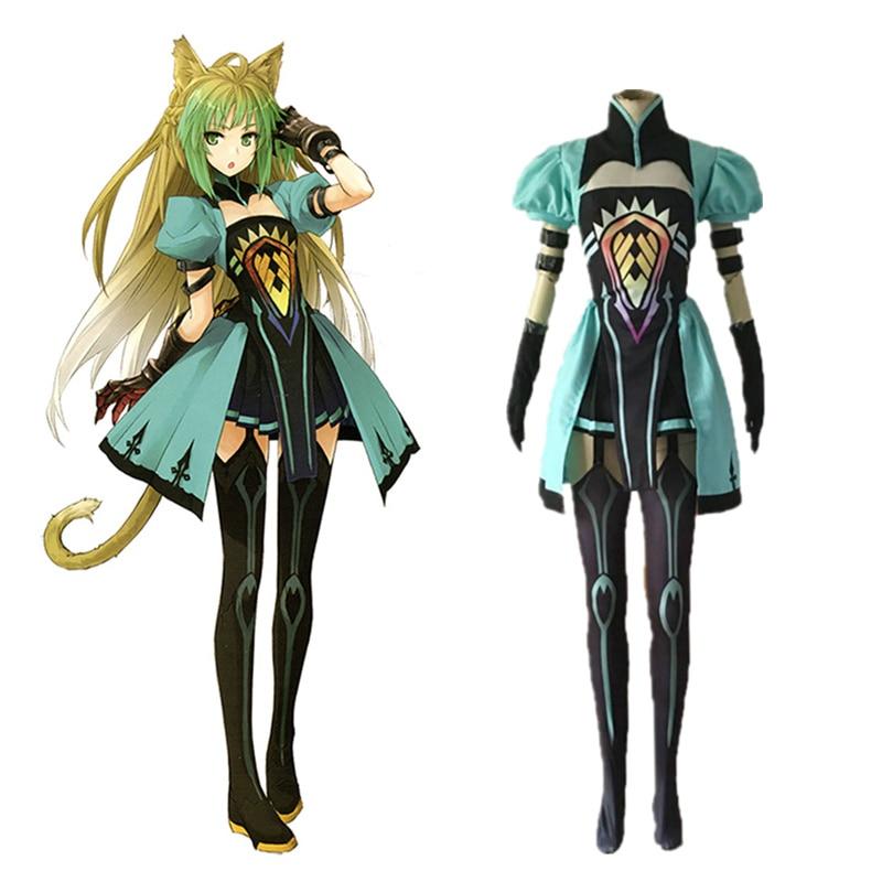 2018 Free Shipping Halloween Atalanta Cosplay Fate Grand Order Costume Fate Apocrypha Archer Costume Women Atalanta Wig Cosplay