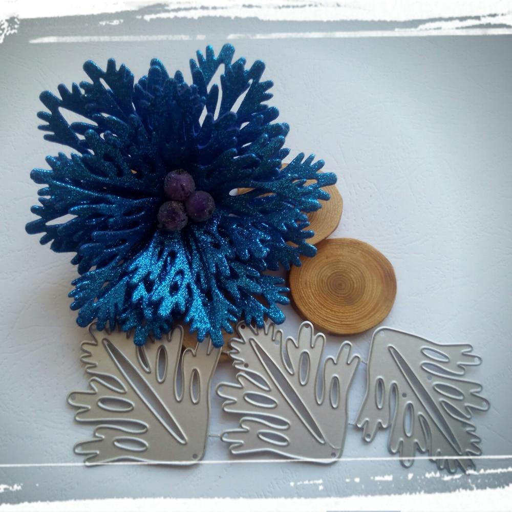 Beautiful Maple Leaf Flower Combination Decoration Metal Cutting Die Scrapbook Paper Knife Die Stamping Die New Die