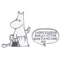 цена на 2pcs/set Cartoon Hippo Hippopotamus Dialogue Brooch Button Pins Denim Jackets Pin Badge Cute Animal Jewelry Gift