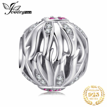 JewelryPalace Olive Leaf 925 Sterling Silver Beads Charms Original For Bracelet original Jewelry Making
