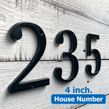 Black 4 101mm Height House Number Door Address Number Digits Zinc Alloy Screw Mounted Big Mailbox Address Sign #0-9 ce iso certification door plates house number plastic abs retro electroplated number 3 to 4 digits customized