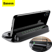 Baseus זמני רכב אריזה כרטיס לרכב לילה אור טלפון מספר כרטיס הודעת צלחת כבל ארגונית נייד טלפון Stand