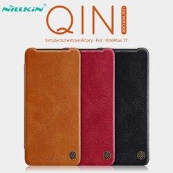 Skórzany pokrowiec na Oneplus 7 T nillkin qin Series portfel z klapką pokrowiec na Oneplus 7 T Pro skórzany pokrowiec na telefon jeden plus 7 T Etui na portfel Telefony komórkowe i telekomunikacja -