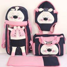 Rabbit Embossed Pink Laci 4'lü Carry Set