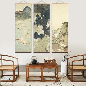 Image 2 - Japanischen Ou mi leinwand drucken poster Landschaft Leinwand Drucken Poster Landschaft Wand Kunst Bilder Wohnzimmer Bauernhaus Wohnkultur