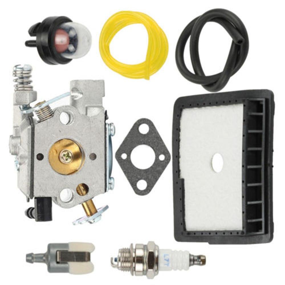 8pcs/Set Carburetor Gasket For Echo CS-3450 CS-3400 Walbro WT-402 Spark Plugs Filter Chainsaw Parts Power Tools