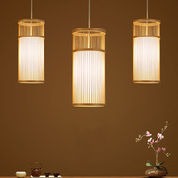 Handicraft Art LED Pendant Lamp Bamboo Suspension Light Handmade Lighting Natural Hanging Lights Hotel Restaurant Cafe Bar