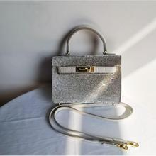 Rhinestone small women's bag evening bag flashing diamond small square bag dinner bag handbag cosmetic bag