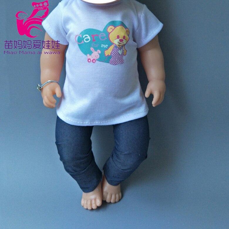 Doll Vest Pants Fit For 43cm  Baby Re Born Doll Girl Dress Boy Suit Clothes Set