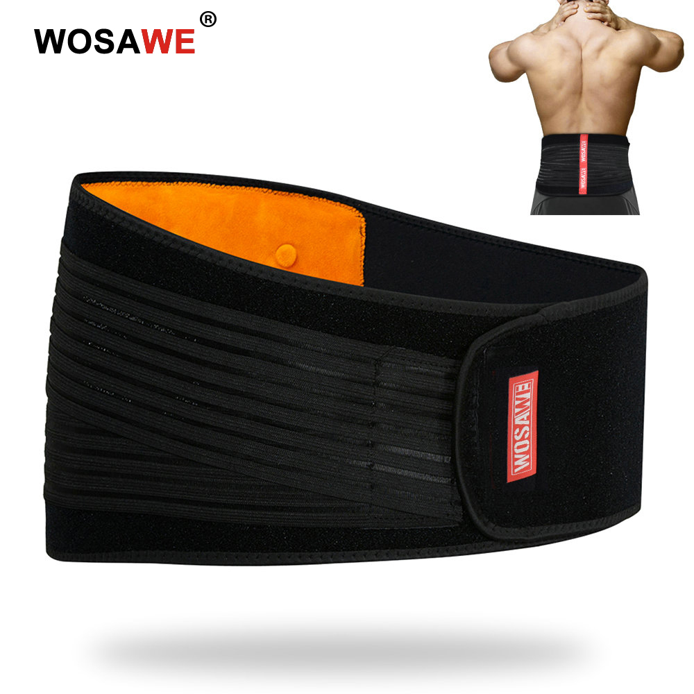 WOSAWE Motorcycle Waist Protection Lumbar Guards Belt Heavy Weight Lifting Work Lower Brace Strap Bodybuilding Back Support