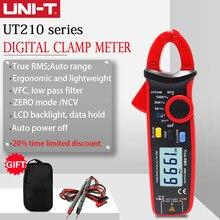 UNI-T uni t mini braçadeira medidor ut210e digital verdeiro rms ac/dc tensão atual testador de capacidade vfc não contato multíme