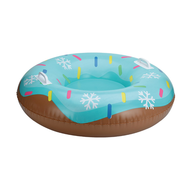 Children And Adult Winter Skiing Pad Board Durable Inflatable PVC Tire Sleds Handle Design Snowboard