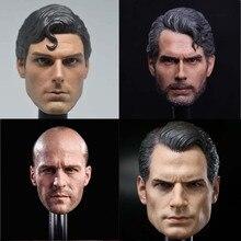 1/6 Schaal Dc Superman Clark Kent Head Sculpt Voor Hot Toys Body Action Figure Speelgoed Collecties