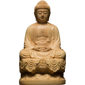 Image 5 - 9.5/13Cm Hout Bouddha Standbeeld Houten Carving Boeddha Buda Estatua Shakyamuni Craft Bodhisattva Sculptuur Voor Home Decor