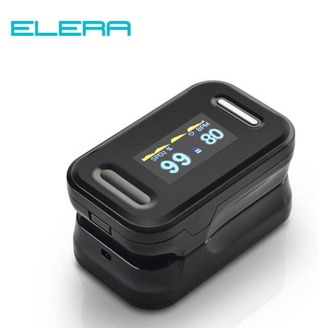 Elera Saturatiemeter De Dedo Vinger Pulsoximeter Blood Oxygen Saturometro SPO2 Pr Oxymeter De Pulso Draagbare Saturator Pulsioximetro