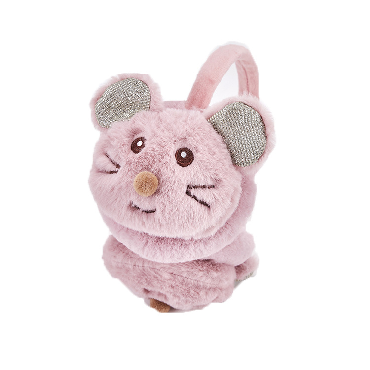 2019 New Cute Kids Mouse Earmuffs Winter Accessories For Child New Headphones Fashion Faux Fur Winter Earmuffs