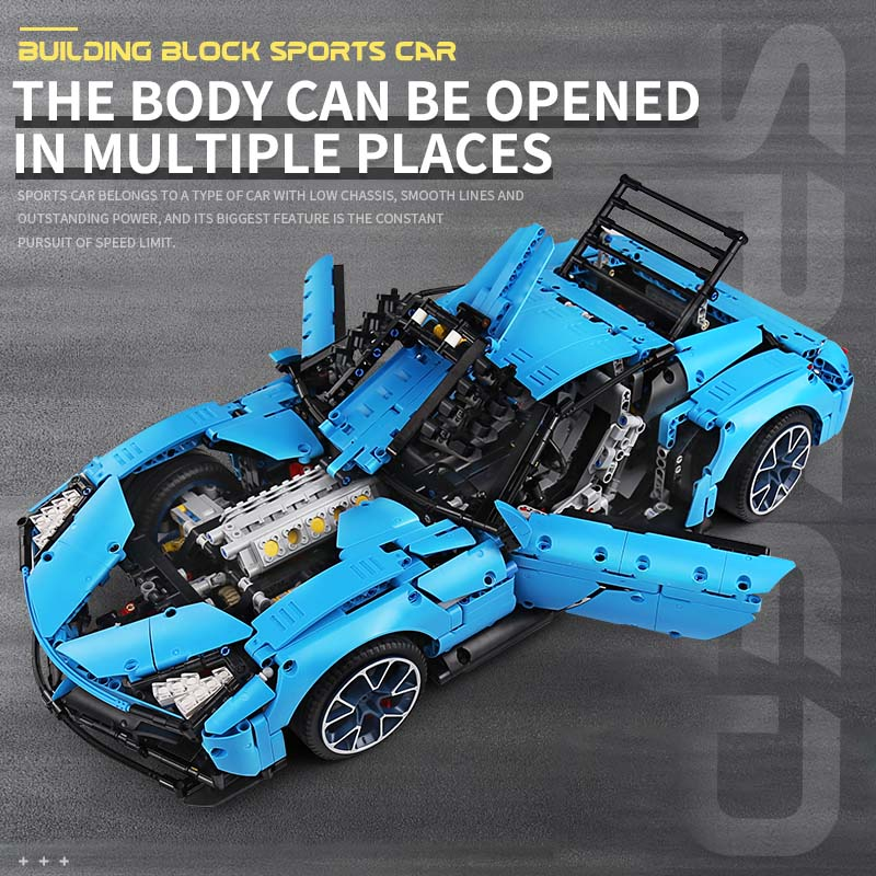 Yeshin J906 High-Tech Car Toys Compatible With MOC-31189 Corvetted Grand Sport Racing Car Building Blocks