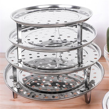 Tray Steamer Cooking-Tools Stainless-Steel Kitchenware Round Dumpling Three-Leg Convient