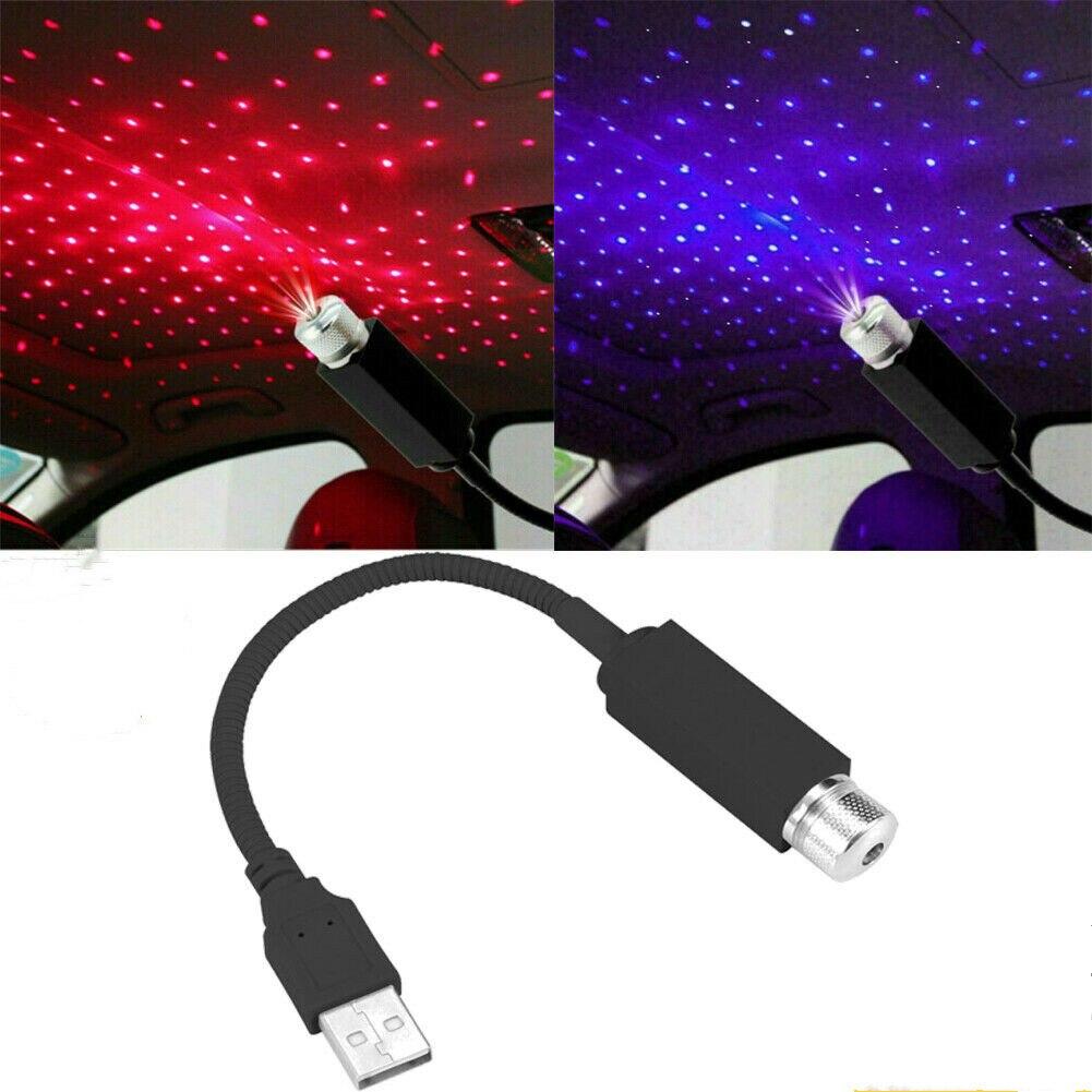 USB LED Car Roof Star Night Light Decorative Lamp Projector Adjustable Atmosphere Home Ceiling Decor Light
