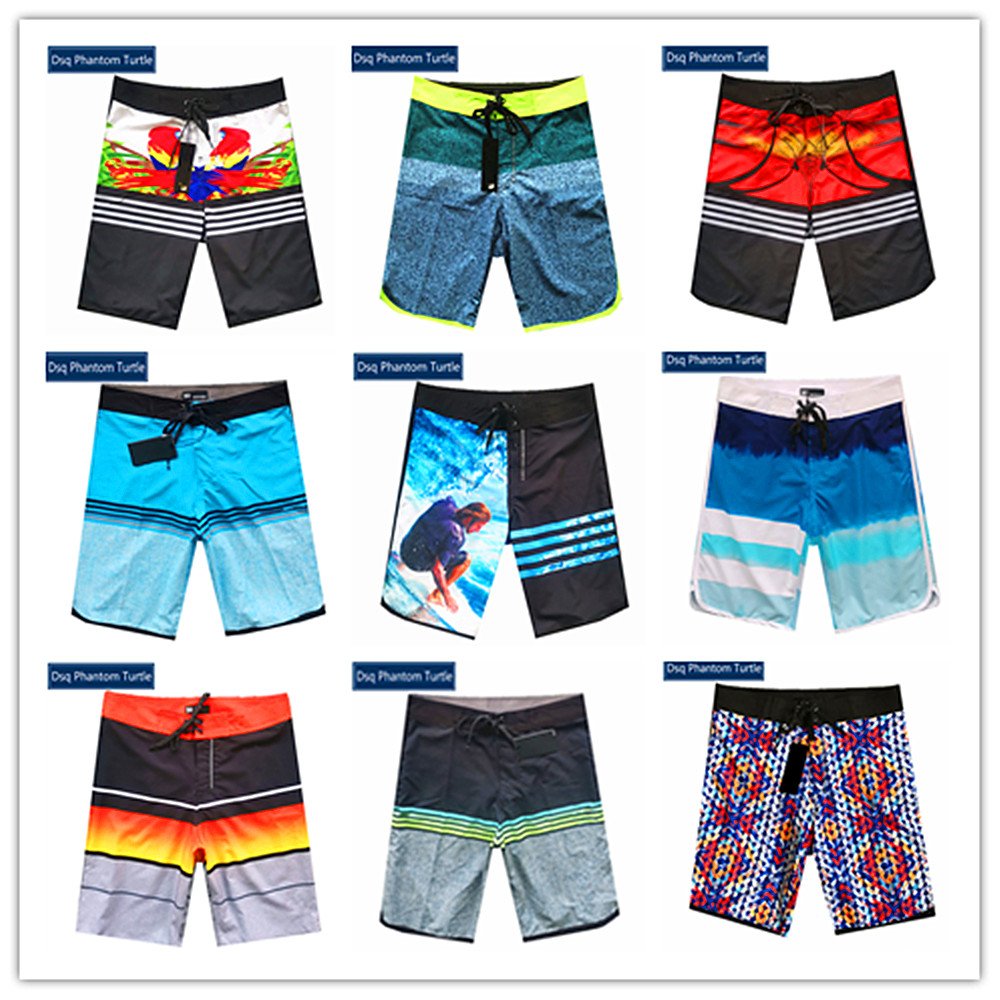 2020 Classic Brand Fashion Dsq Phantom Turtle Beach Boardshorts Men Stretch Swimwear Spandex Elastic Adults Swimtrunks 30-38