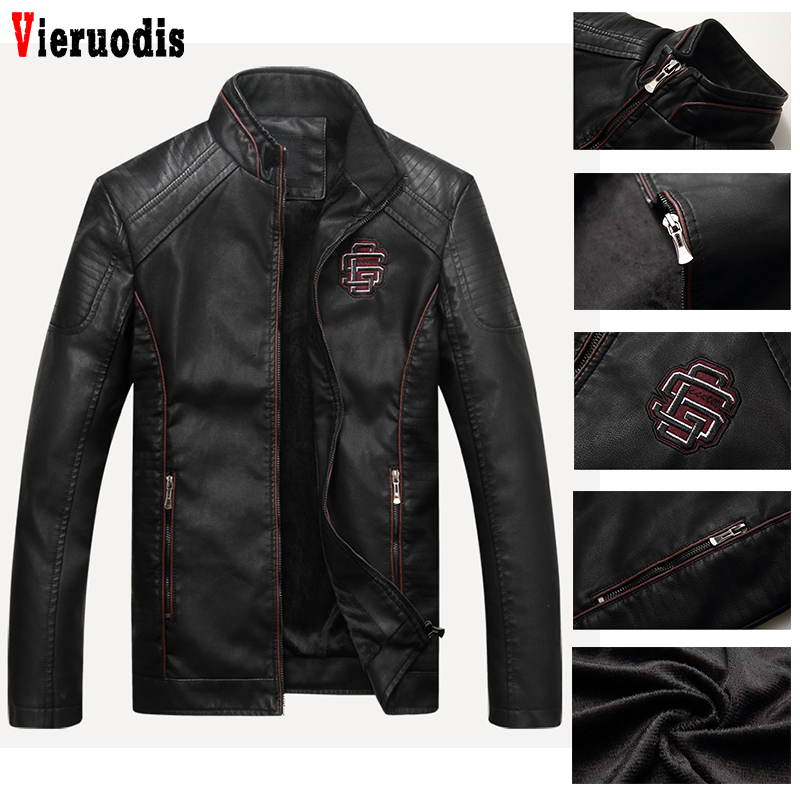 Male Faux Leather Coat Fitness Motorcycle Coat PU Leather Autumn Men's Casual Leather Suede Jacket Male Winter Bomber Jackets