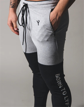 grey\black men jogging pants sport pants