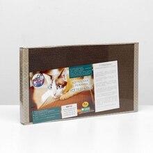 Домашняя когтеточка-лежанка для кошек, 56 × 30 (когтедралка) 1386394