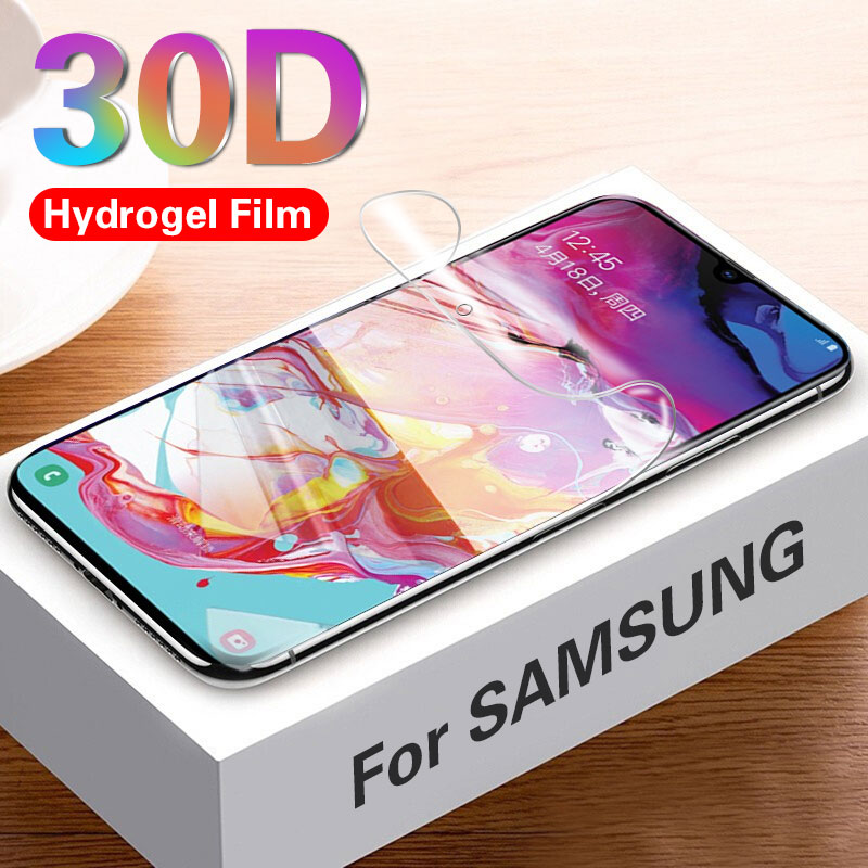 30D Hydrogel Film On For Samsung Galaxy A70 A50 A30 A20 A10 Screen Protector S10e S10 Note10 Plus Soft Protective Film Not Glass