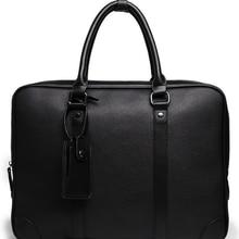 Дизайн, мужской портфель, простая изящная деловая сумка для ноутбука, изысканная Мужская сумка из искусственной кожи, сумка для отдыха, Bolso Hombre DF364