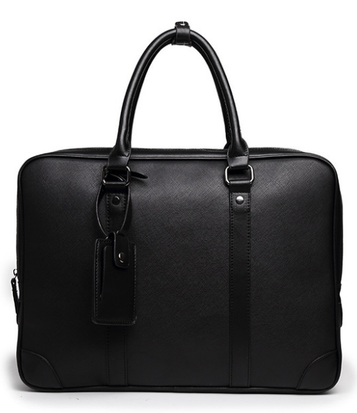 New Design Men Tote Briefcase Simple Graceful Laptop Business Bag Exquisite Mens PU Leather Leisure Handbag Bolso Hombre DF364